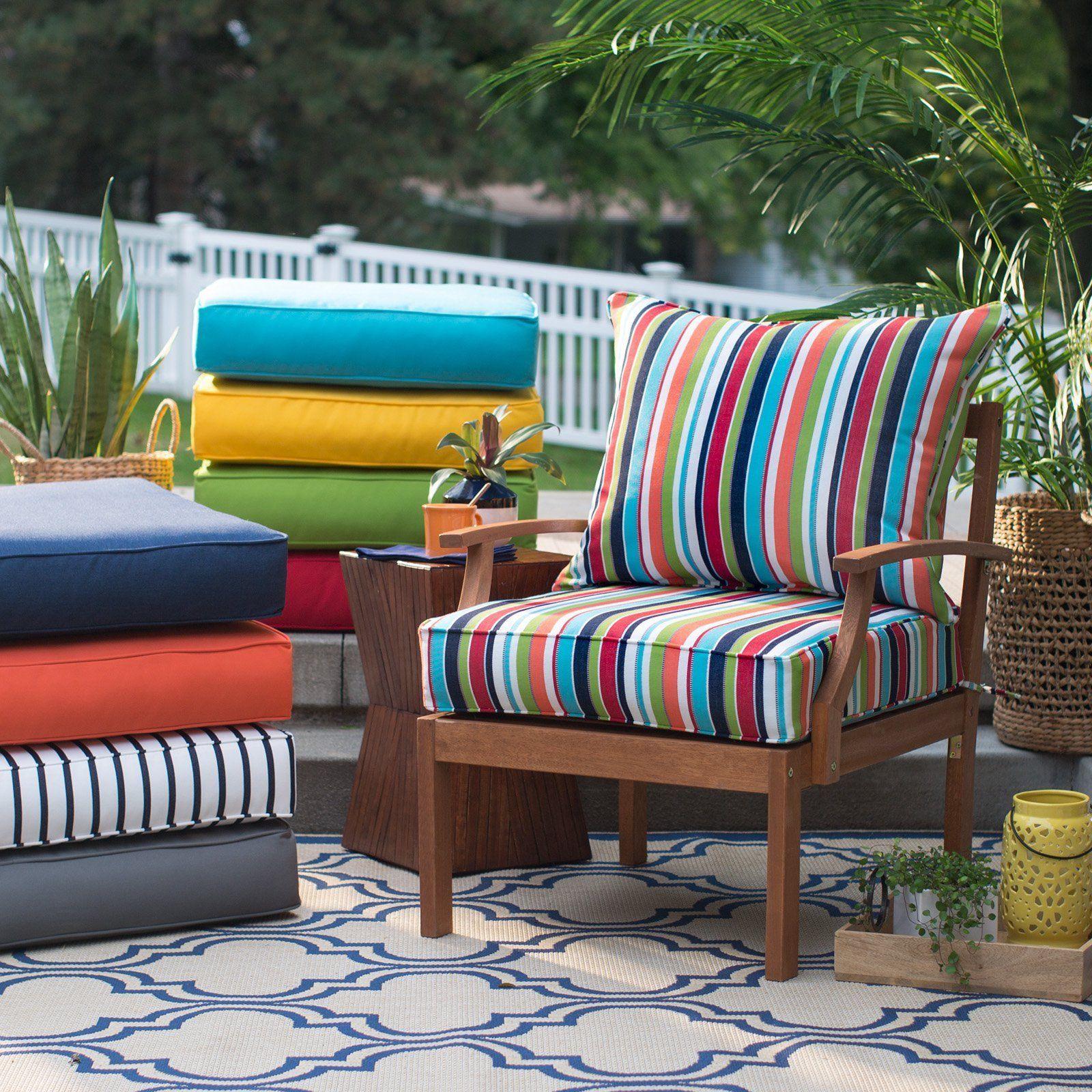 "25"" Premium Sunbrella Fabric Outdoor Deep Seat Cushion Set ..."