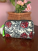 Coach Cosmetic Bag Poppy Kyra Floral Graffiti 44993 Black White Red M6 - $59.39