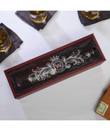 Fortescue Engraved Wooden Wine Bottle Box - $34.95