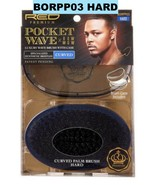 RED PREMIUM POCKET WAVE LUXURY WAVE HARD BRUSH WITH CASE BORPP03 CURVED - $9.89