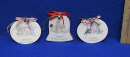 Lot 3 Precious Moments Porcelain Ornaments Christmas Way of Lord Sharing... - $9.89