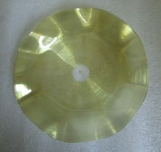 STEVENS WILLIAMS THREADED Yellow Clear GLASS SAUCER UNDER PLATE for Fing... - $19.75