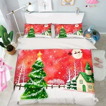3D Christmas 399 Bed Pillowcases Quilt Duvet Cover Set Single Queen King Size AU - $90.04+