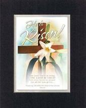 He is Risen! 8 x 10 Inches Biblical/Religious Verses set in Double Bevel... - $11.14