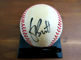 GEORGE BRETT HOF MVP KC ROYALS SIGNED AUTO ERA GAME USED OAL BASEBALL BE... - $197.99
