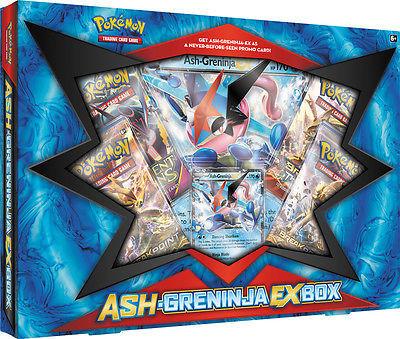 Ash-Greninja EX Box + Mewtwo EX Collection Box POKEMON TCG Sealed Booster Packs