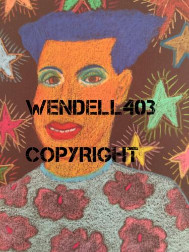 "Original 8x10"" Oil Pastel Gilbert Magu Lujan 1999 Drawing Art on Board"