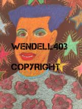 "Original 8x10"" Oil Pastel Gilbert Magu Lujan 1999 Drawing Art on Board image 1"