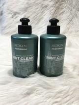 2 Redken for Men Mint Clean Invigorating Shampoo 10.1 OZ Discontinued BB28 - $60.76