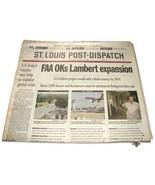 1998 Oct 1 St. Louis Post Dispatch Newspaper Complete FAA Lambert Expans... - $13.99