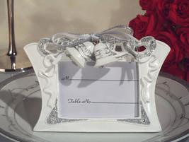 100 White Silver Wedding Bellls Place Card Photo Frame Wedding Favor - €128,05 EUR