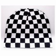 Punk Winter Ski Snowboarding Hat Cap Black White Checkers Beanie FT163 (... - £9.24 GBP