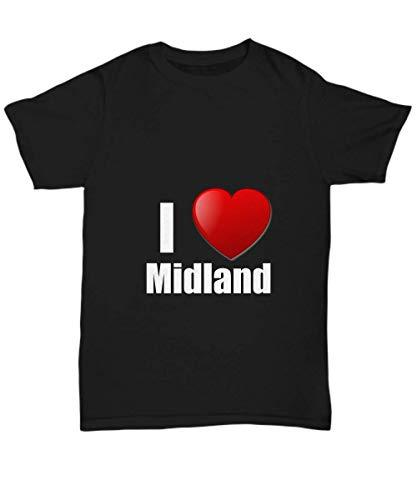 Primary image for Midland T-Shirt I Love City Lover Pride Funny Gift for Gag Unisex Tee