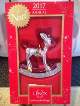 Lenox Rudolph The Red Nosed Reindeer Baby's 1st Christmas 2017 Ornament Rare New - $14.99