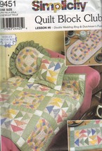 Simplicity Pattern 9451 Quilt Block Club Lesson 6 Double Wedding Ring Item L-29 - $11.94