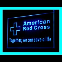 150072B Red Cross Together we can save Emergency Service Display LED Light Sign - $18.00
