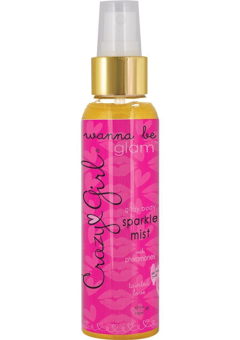Classic Erotica Crazy Girl Glitzy Body Mist Gold 4oz