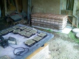 "Six Concrete Molds 8""x8""x1.5"" Make 100s of Cobblestones For Patio, Walks, Walls image 5"