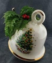 Vintage Ceramic Bell Shaped Christmas Ornament Hanging Planter FREE SHIP... - $24.95