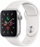 Apple Watch Series 5 GPS 40mm MWV62LL/A Silver Aluminum Case w/ White Sp... - $465.49