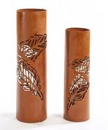 "Rustic Lantern Pillar Candle Holders 22.5"" high & 27.3"" high Set of 2 - $128.69"