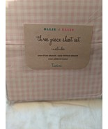 Ollie & Ellie Pink White Gingham Check Sheet Set Twin - $34.00