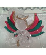 lovinbox Hand Sculpted Glass and 24 Kt Gold Angel with Wings-Baby's Firs... - $10.77