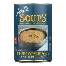 Amy's - Mushroom Bisque With Porcini - Case Of 12 - 14 Oz - $66.96