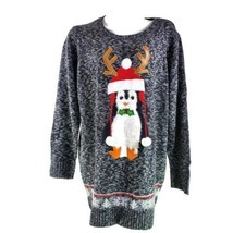 United States Sweaters Pinguin Rentier Antlers Ugly 2X Weihnachten Pullover - $31.06