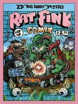 Rat Fink Comix #5 Big Daddy Ed Roth Metal Sign - $34.95