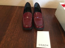 Womens COACH Leather Shoes Sz 7 B  P194 Elena Made in Italy  - $23.75