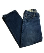 Abercrombie Fitch Button Fly Mens Jeans 30 30 Low Rise Med Wash Blue Den... - $29.01