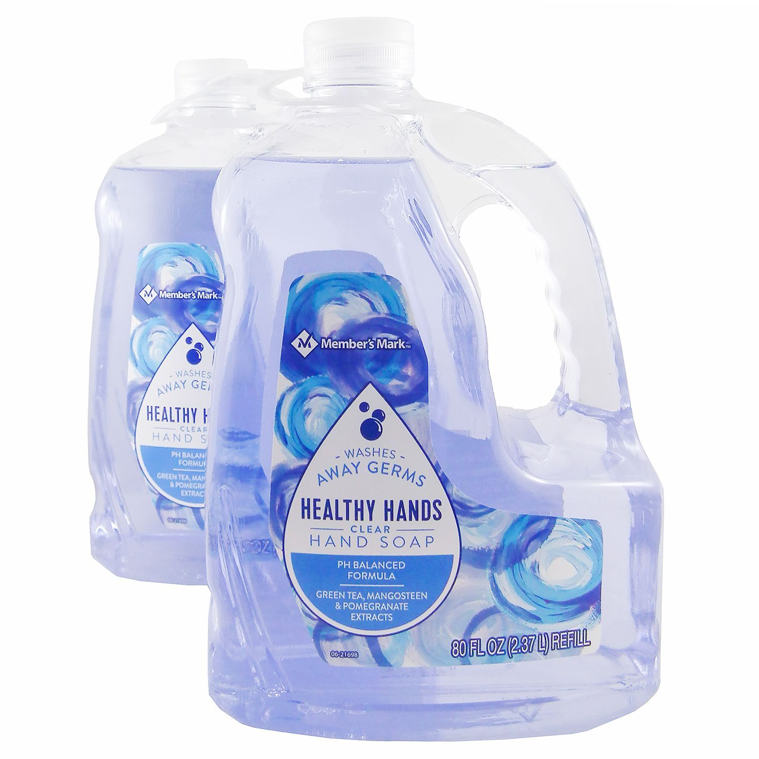 Member's Mark Hand Soap Refill, Clear 80 fl. oz./ 2.37 l, 2 Bottles