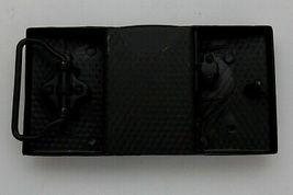 Hommes Motard Capuche Ceinture Boucle Métal Noir Drapeau Américain USA Hip Hop image 6