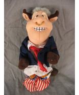 Meanie Beanie Babies Infamous Series BULL BILL CLINTON Political Pants Down - $4.95