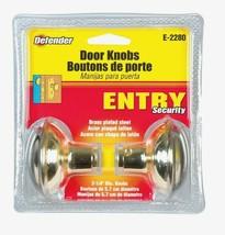 Prime-Line Defender DOOR KNOBS Bright Brass Steel Replacement Interior E-2280 - $13.59