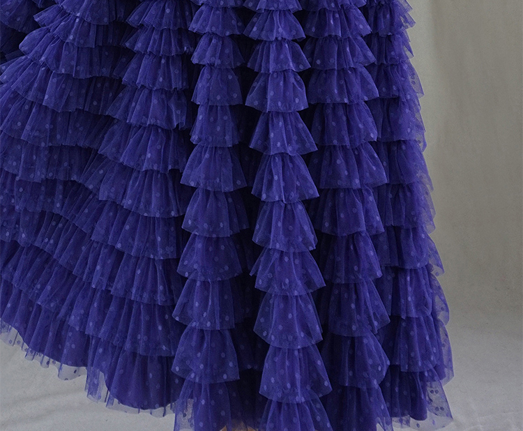 Tulle skirt purple dot 7