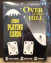 NEW Jumbo Playing Cards Deck OVER THE HILL Gag Gift Easy To Read - $13.30
