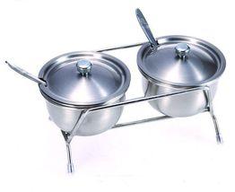 Spice Jar Multipurpse Stainless Steel Spice Storage Rack Salt Pepper Sha... - $39.60