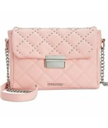 Rampage Crossbody Handbag Quilted Blush Pink Studded Silver-tone Chain NWT - $24.73