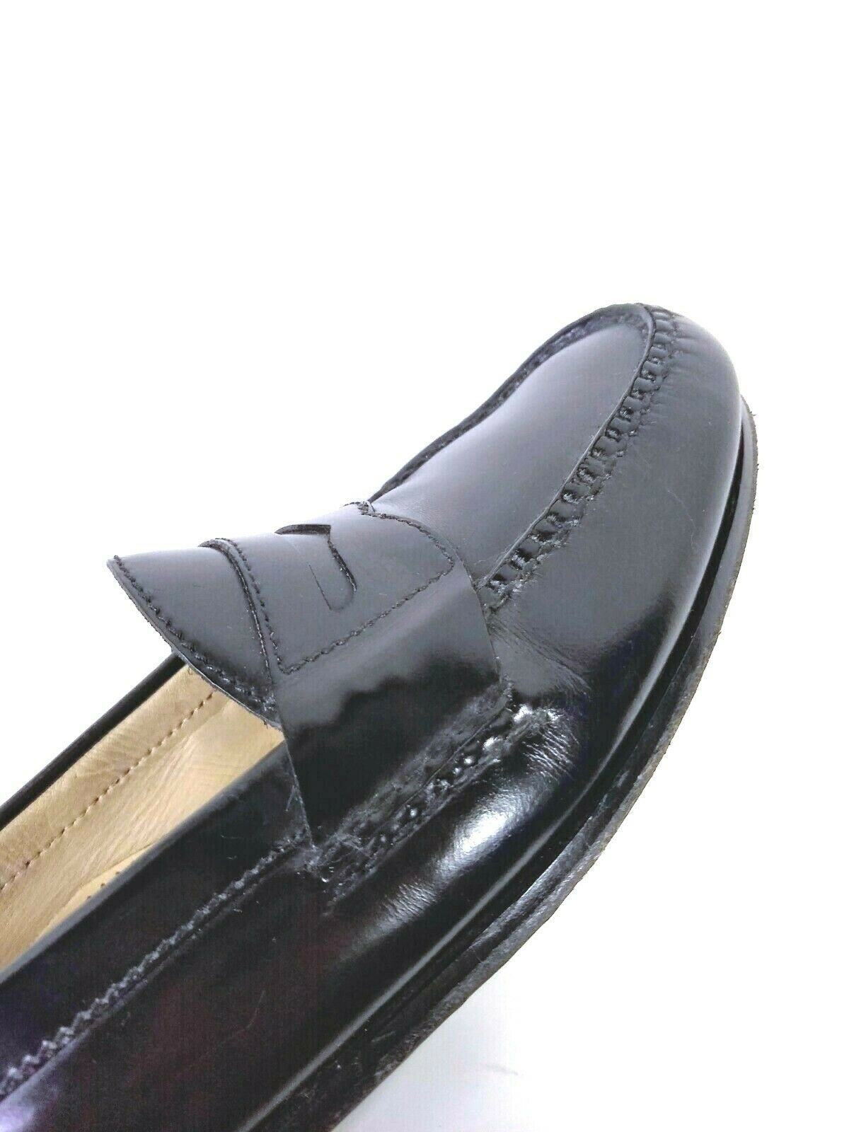 Cole Haan Mens Black Moc Toe Pinch Penny Leather Loafer Slip-on Shoes Size 9.5 image 11