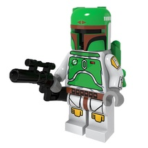 1 Psc Star Wars Military Boba Fett With Weapon Fit Lego Block Minifigure... - $6.99