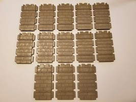 Lot of (13) 1977 Playmobil 3666 Castle Walls Parts - Medieval Knights - ... - $9.95