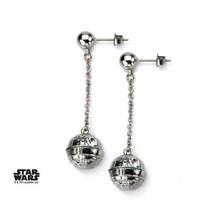 Disney Star Wars Stainless Steel 3D Death Star Stud Dangle Earrings - $56.00