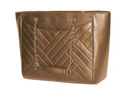 Tory Burch Womens Vachetta Beige Leather Alexa Large Tote Bag Purse 1877... - $319.76