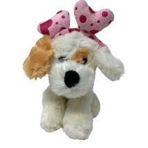 "Best Made Toys Plush Beige Puppy Dog in Heart Headband 7"" Soft Stuffed Animal - $9.99"