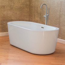 "67"" Bathtub Glossy White Acrylic Freestanding Luxury Spa Vintage LTF1 Le... - $924.66"