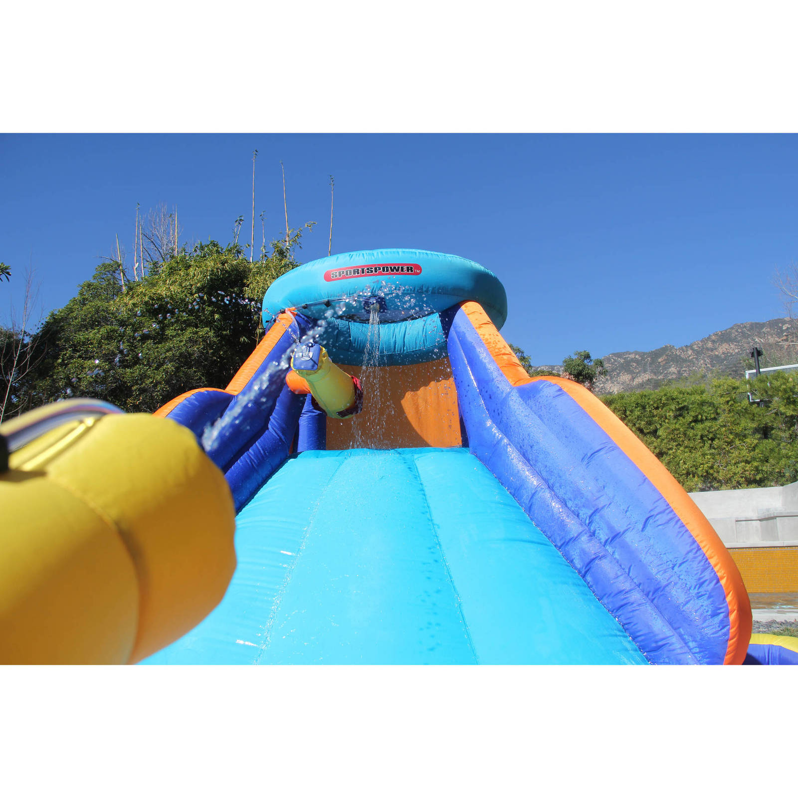 Inflatable Slide Splash: Inflatable Water Slide Splash Play Outdoor Party Climb
