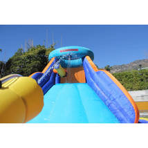 Inflatable Water Slide Splash Play Outdoor Party Climb Wall - $325.00
