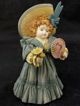Maud Humphrey Bogart Figurine Sunday Best M0102 Girl Fan Flowers 1992 Me... - $19.34